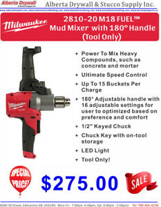 Milwaukee M18 FUEL™ Mud Mixer with 180° Handle