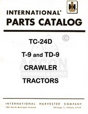 International T-9 Td-9 Crawler Part Catalog Manual