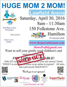 HUGE Mom to Mom Sale at Lawfield arena - Don't miss out!