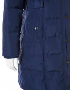 New CLEO Navy Long Winter Down Filled Quilted Coat Jacket - XL Cambridge Kitchener Area image 3
