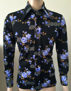 dcdff5856b1a66 Variety of Vintage 1970 s Men s Disco Wide Collared Shirts