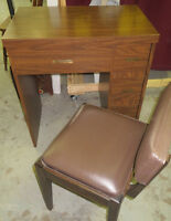 SEWING MACHINE TABLE & CHAIR