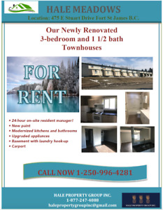 3 Bedroom Town House Fort St James B.C