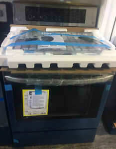 """30"""" stainless free standing smooth top stove New LG $999"""