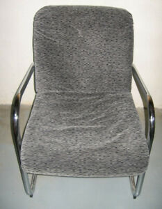 Grey Chenille Fabric Chairs