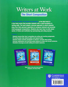 Used Writers at Work: The Short Composition Student's Book North Shore Greater Vancouver Area image 2