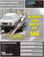 IT'S TIME TO WINTERIZE YOUR VEHICLE