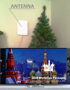 """ Crystal HD"" New Concept Digital HD Indoor TVAntenna (120km!)"