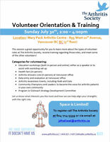 The Arthritis Society - Volunteer Orientation & Training