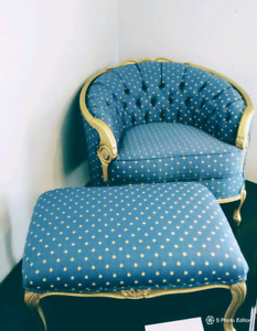 French Provincial Antique Chair- Reoupostered