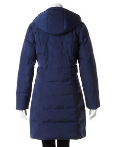 New CLEO Navy Long Winter Down Filled Quilted Coat Jacket - XL Cambridge Kitchener Area image 2
