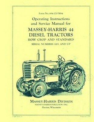 Massey Harris 44 Diesel Operators Service Manual 1001-