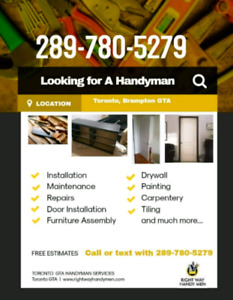 Handyman To Install Doors | Find or Advertise Services in