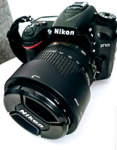 Nikon D7100 with 18 x 105 kit lense.