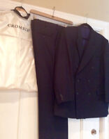 Crombie, Wool and Cashmere men's suit.