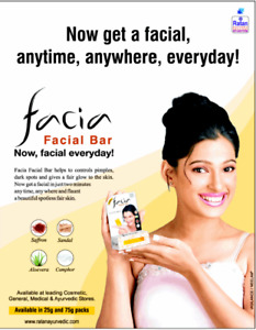 Facia Spa Facial Bar with Saffron and Sandalwood - Brand New