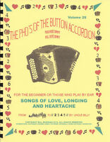 "New button accordion book ""Songs Of Love, Longing & Heartache"""