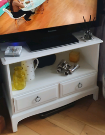 Wooden white TV stand unit