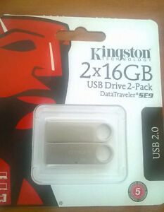 16GB Kingston USBs x 2 -- Brand New