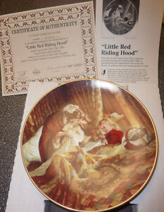 3 Fairytale-themed KNOWLES collector plates $ 15 EACH, $ 40 all Kitchener / Waterloo Kitchener Area image 2