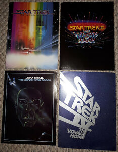 Star Trek lot of 4 original movie programs; Wrath of Khan, Spock