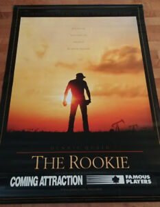 The Rookie ORIGINAL movie theatre vinyl baseball poster banner.