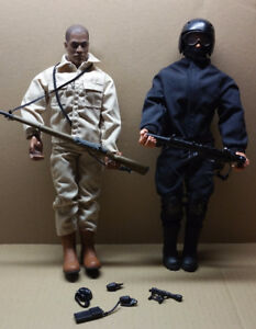 Two Hasbro GI Joe Action Figures with Accessories