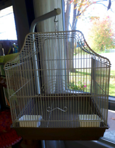 Bird cage and stand.