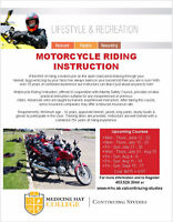 Motorcycle Riding Instruction - Medicine Hat College