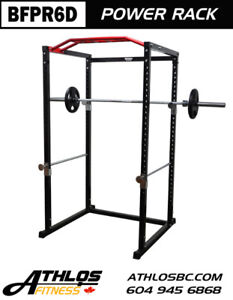 BRONSON Power Squat Rack Training System Cage with Multi Grip BF
