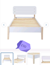 White Elegant Single Bed Frame only £95. Real Bargains Clearance Leice