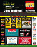 Biggest Tool Sale of the Year at Wise Line Tools