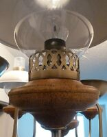 Chandelier- 5 lights with wood bases - Ideal for Cabin.