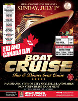 EID AND CANADA DAY BOAT CRUISE