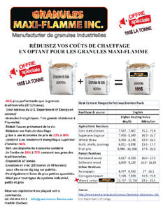 GRANULES (pellets)SPÉCIAL 3.92 40lb