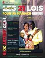 CONFÉRENCE : LES 21 LOIS POUR UN MARIAGE RÉUSSI (19 au 22 juill)