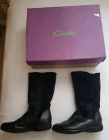 Girls Clarks Boots - Size 10F