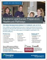 Healthcare Pathway - Academic and Career Prep
