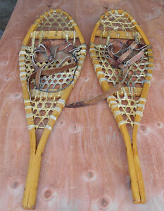 Traditional wood/rawhide snowshoes