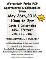 Free Admsiiosn 1 Day Only Funko Pop, Collectibles Show!!