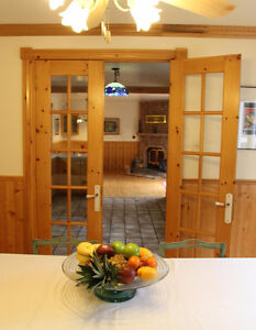 PRICE REDUCED!! SOLID PINE - BEAUTIFUL FRENCH DOOR -PRICE REDUCE
