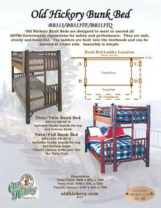 AMAZING Old Hickory Furniture Co. Bunk Bed