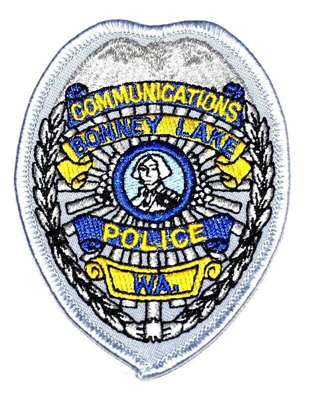 """BONNEY LAKE – COMMUNICATIONS - WASHINGTON WA Sheriff Police Patch SHIELD 3.5"""" ~"""