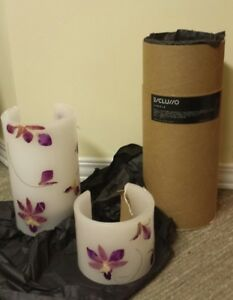 BRAND NEW - unique gift item - real orchid Candles - set of 3