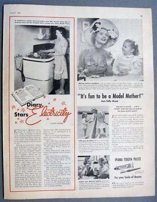 Orig 1948 Electric Article Features Mrs Earl Renner, Callaway County, Missouri