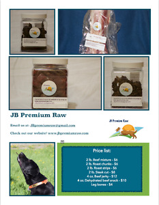 JB Premium Raw – Raw and dehydrated dog food delivery service
