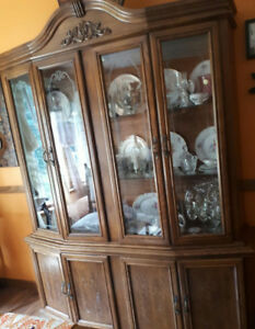 Large 2 peice China Cabinet