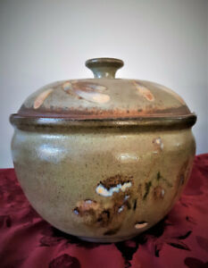 Beautiful Wood Fired Pottery Casserole - Unique and Practical!