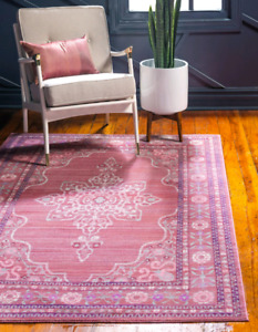 Brand New Pink 5' x 8' Area Rug