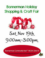 Vendors Needed for Bannerman Holiday Shopping & Craft Fair
